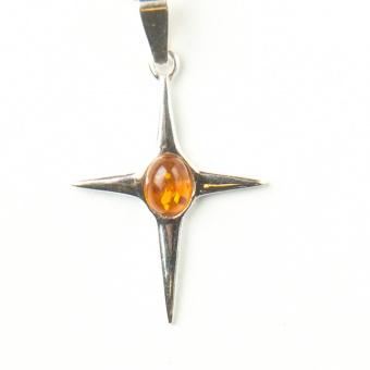 Silber Bernstein Kreuz