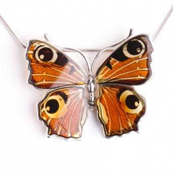 Kleiner Bernstein Anhänger Schmetterling
