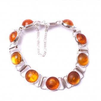 Bernstein Armband mit runden Steinen